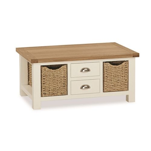 Windsor LARGE COFFEE TABLE WITH BASKETS